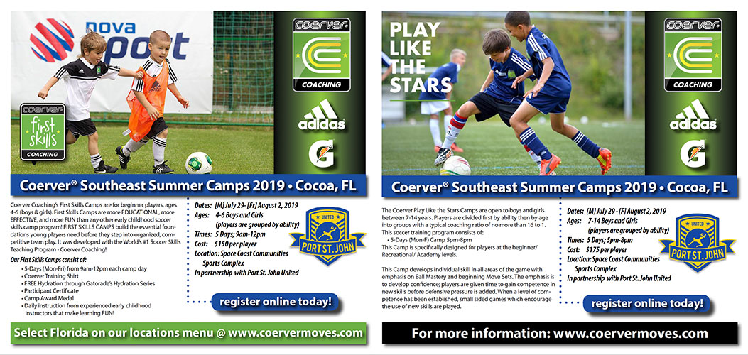 Coerver First Skills Camp and Play Like The Stars Camp
